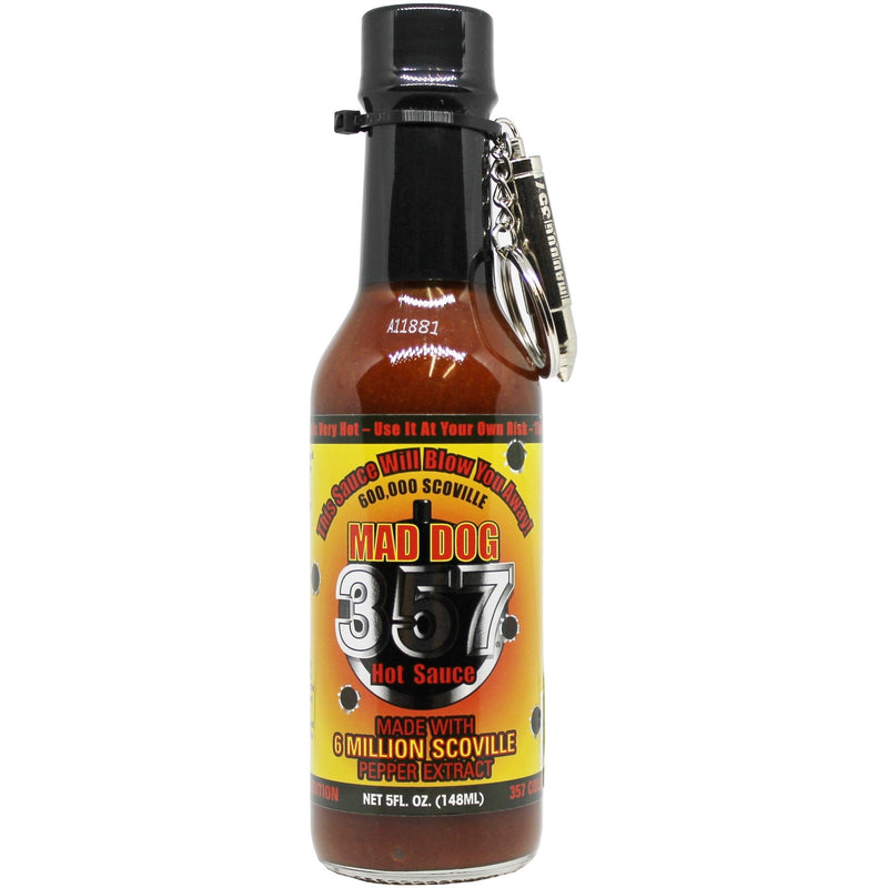 Mad Dog 357 With Key Chain Collectors Edition 600,000 Scoville Hot Sauce 5oz