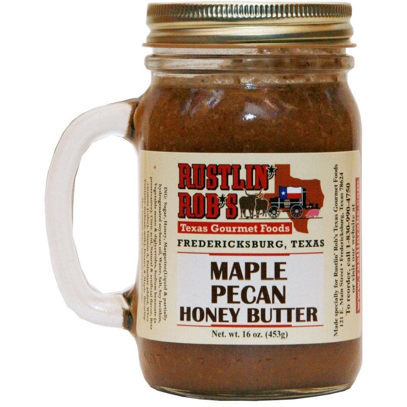 Maple Pecan Honey Butter 16oz. by Rustlin' Rob's