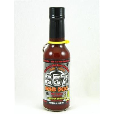Mad Dog 357 Hot Sauce Silver Collector's Edition w/ Bullet 5oz