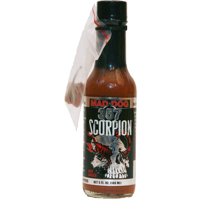 Mad Dog 357 Scorpion With Real Pepper Pod - 5 ounce bottle