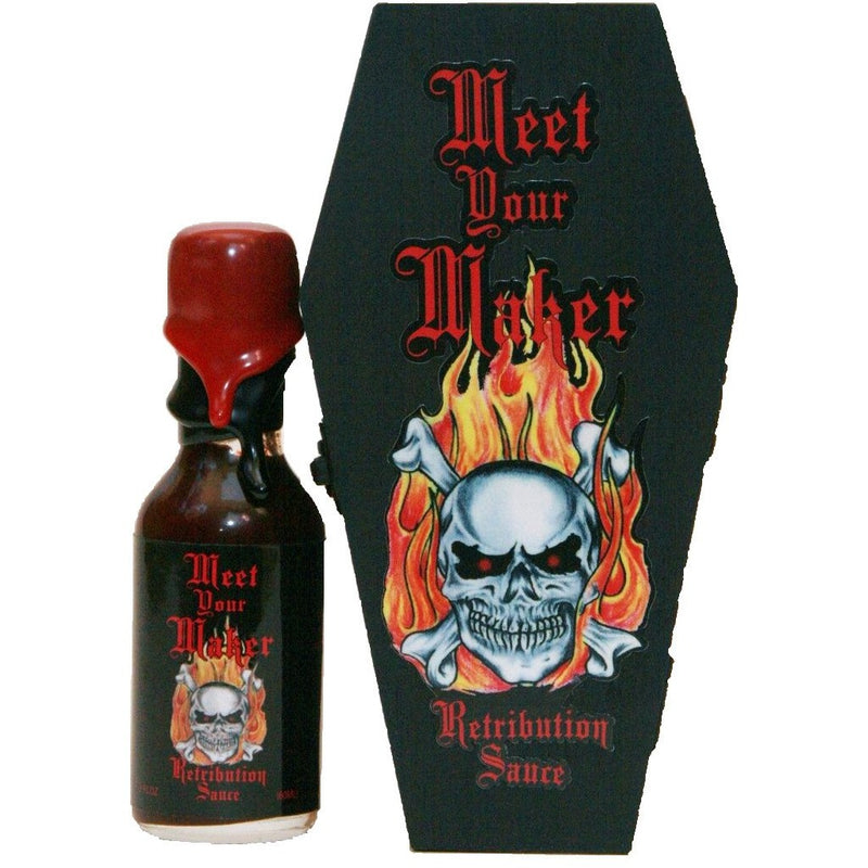 MEET YOUR MAKER W/ COFFIN HOT SAUCE 2oz