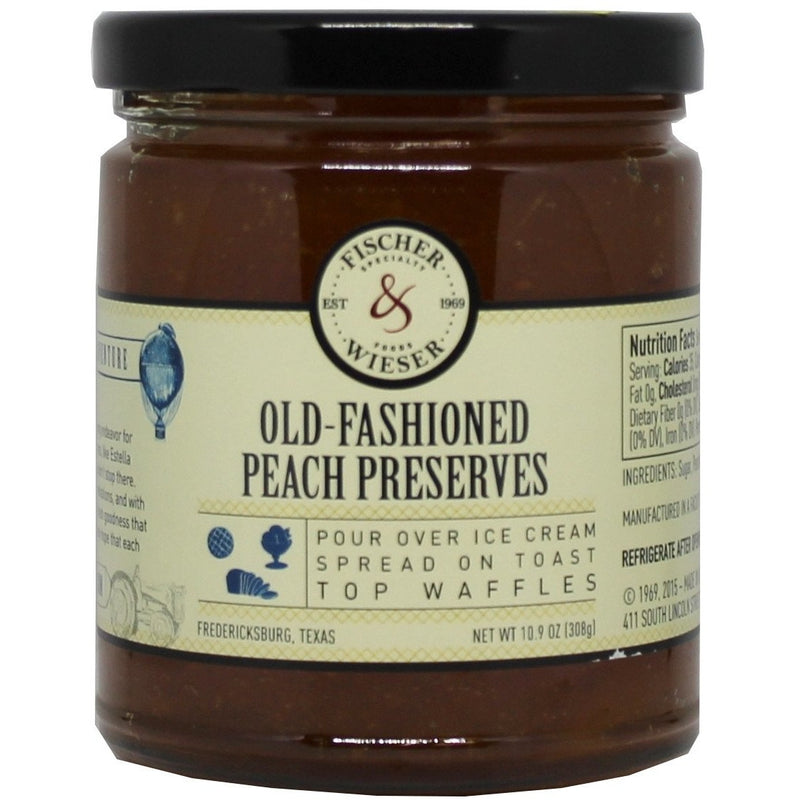 Old Fashion Peach Preserves 10.9oz by Fischer & Wieser