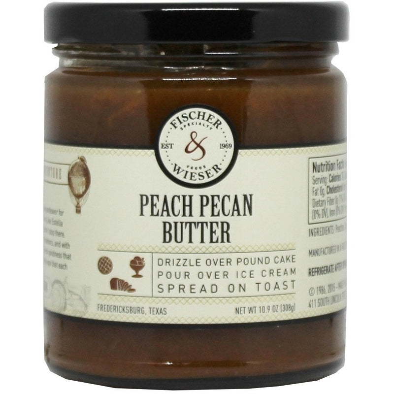 Peach Pecan Butter 10.9oz by Fischer & Wieser