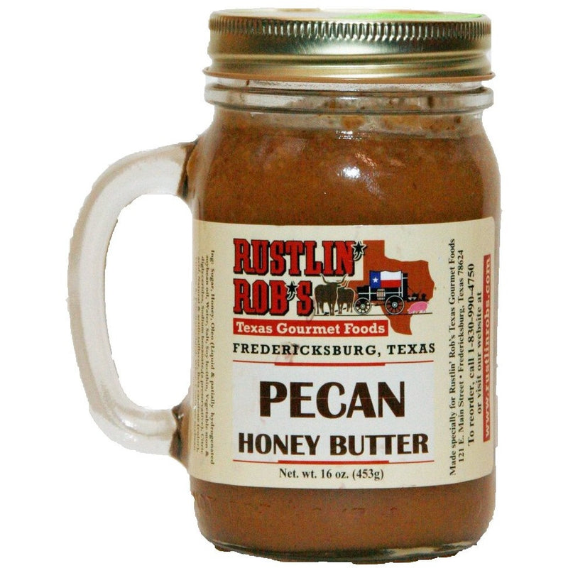 Pecan Honey Butter 16oz. by Rustlin' Rob's