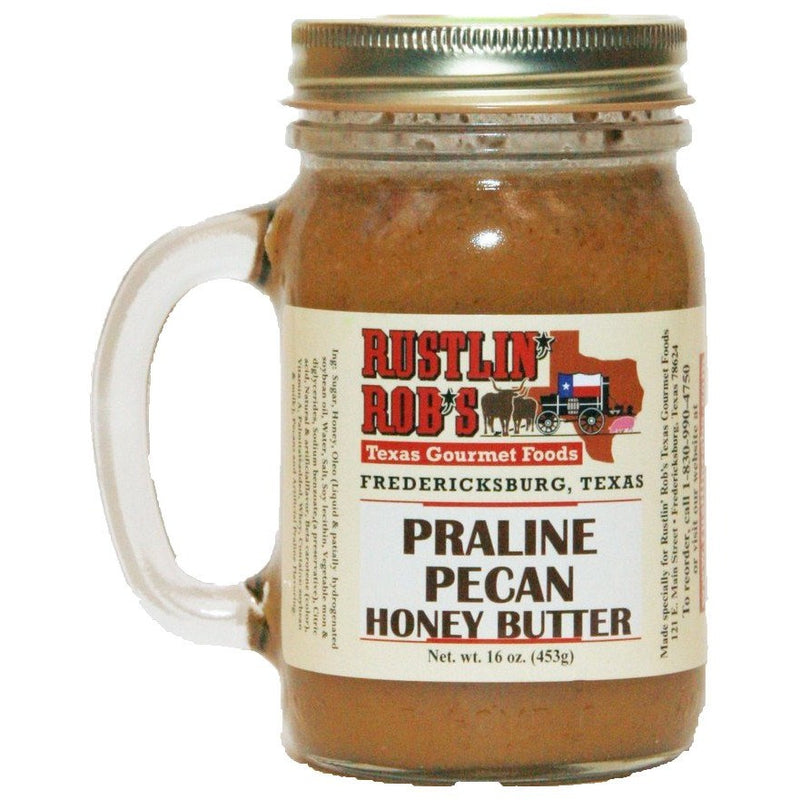 Praline Pecan Honey Butter 16oz. by Rustlin' Rob's