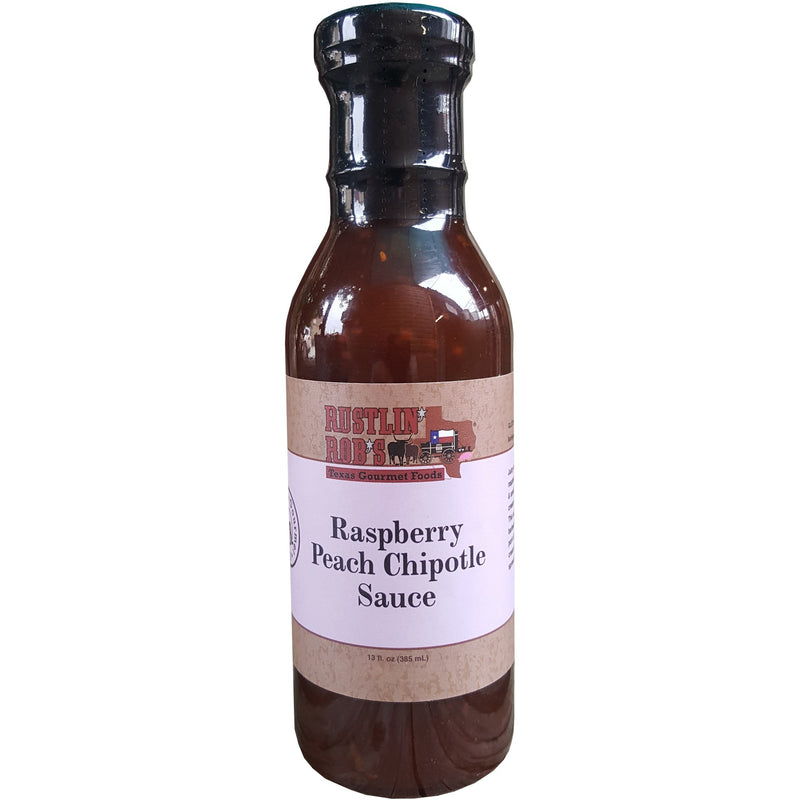 Raspberry Peach Chipotle Sauce by Rustlin' Rob's 16.5 oz