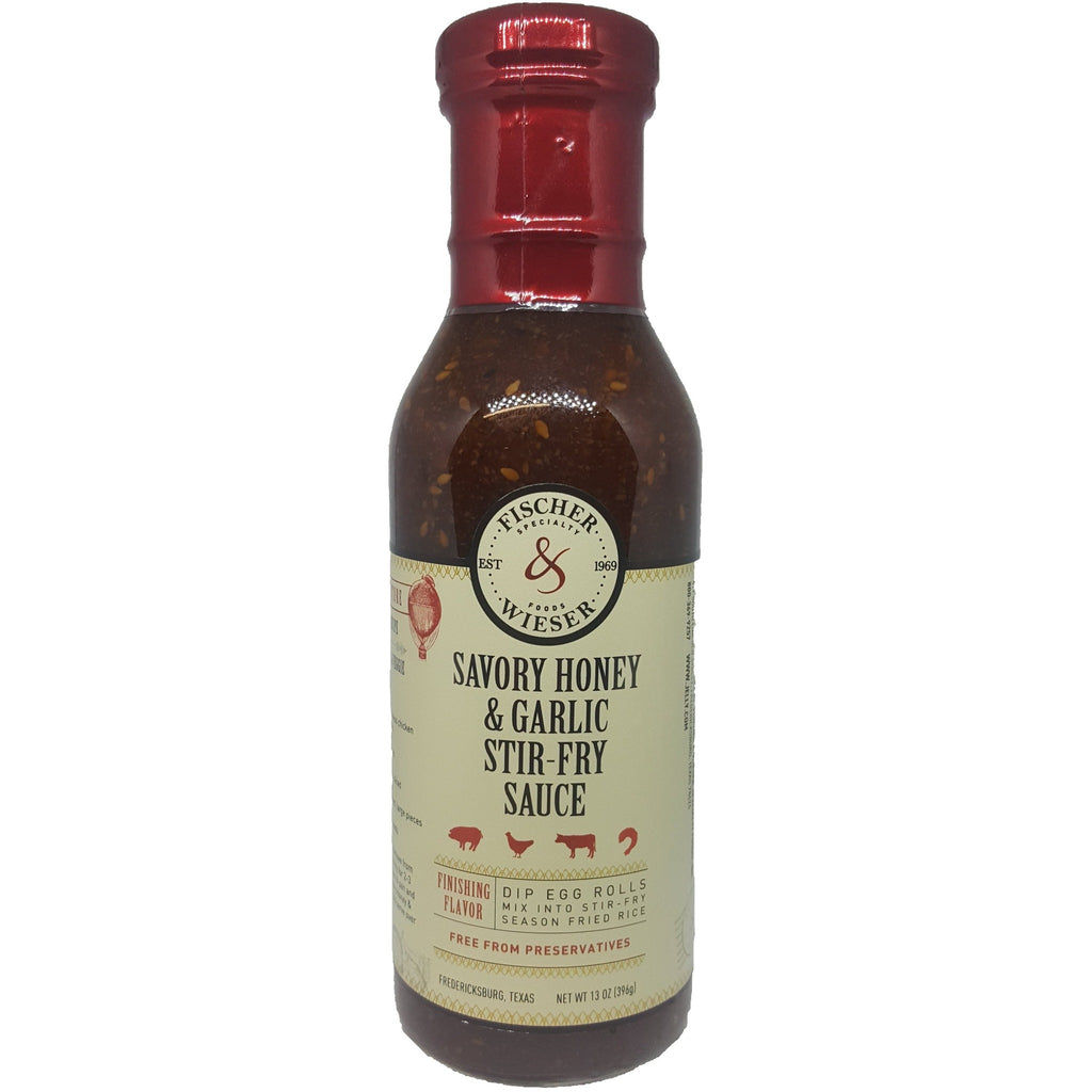 Savory Honey & Garlic Stir-Fry Sauce by Fischer & Wieser 13 oz