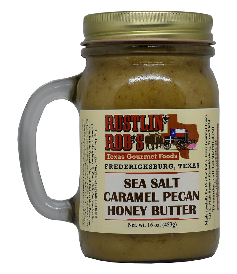 Sea Salt Caramel Pecan Honey  Butter 16oz. by Rustlin' Rob's