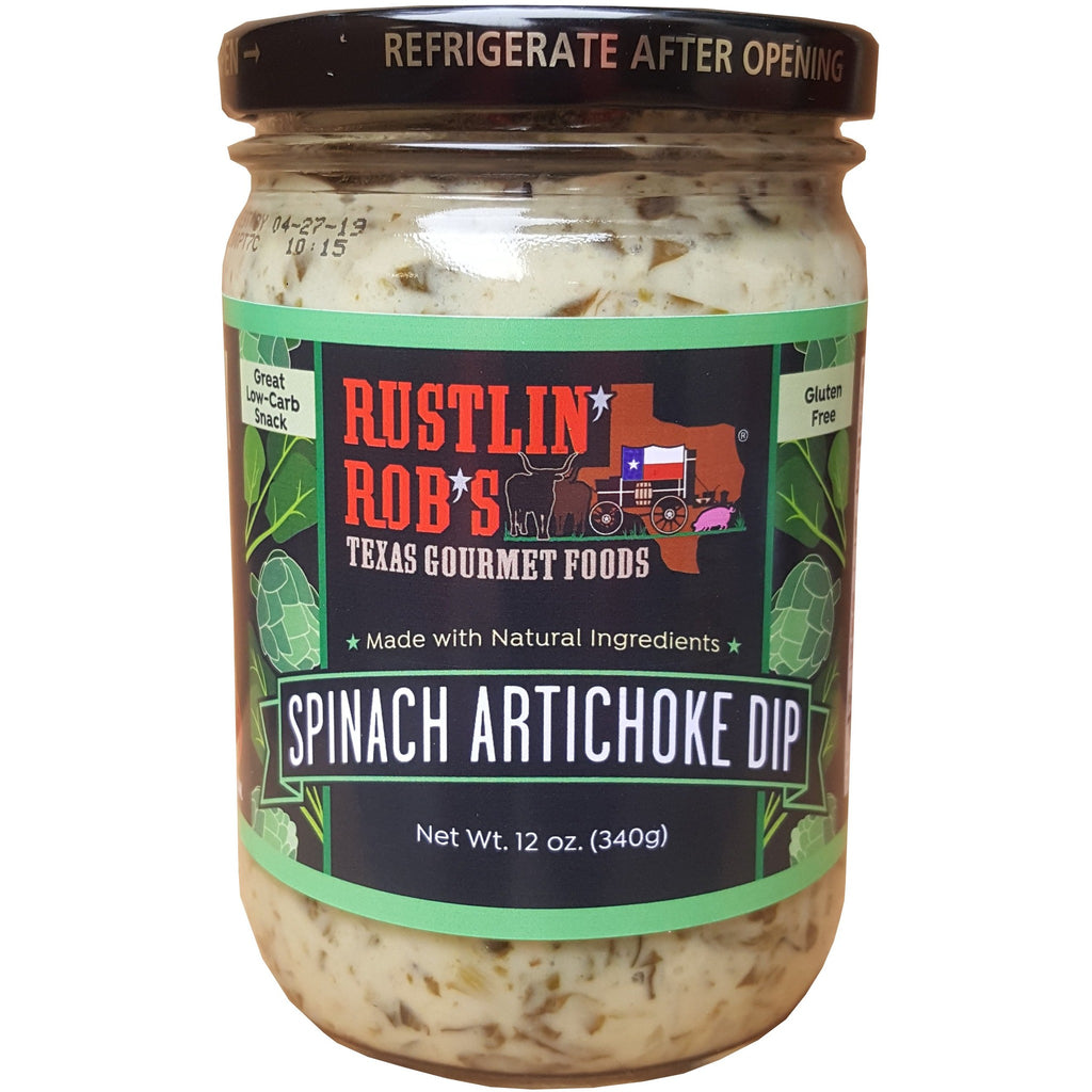 Spinach Artichoke Dip by Rustlin' Rob's 12 oz.