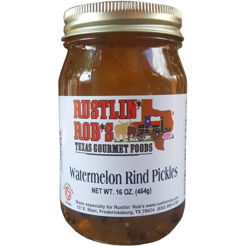 Watermelon Rind Pickles 16oz by Rustlin' Rob's