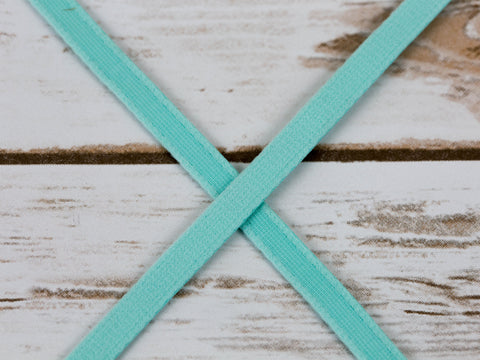 "3/8"" wide Aruba Aqua Plush Underwire Channeling  By The Yard"
