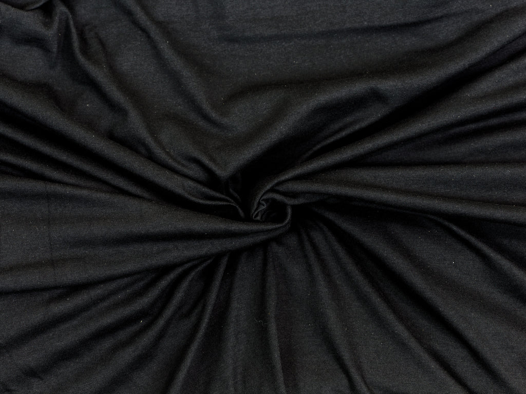 "100% Cotton Crotch Lining Black Fat Quarter 18"" x 22"""