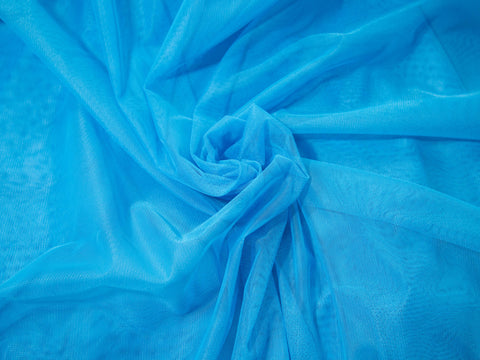 "18"" x 30"" Bra Tulle Ocean Blue Nylon Non Stretch Cup Lining - Arte Crafts Bra Making Supplies"