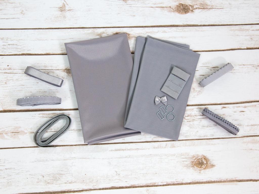 Platinum Grey Duoplex Bra Making Kit Medium Width Findings - Arte Crafts Bra Making Supplies