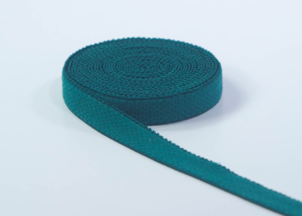 "1/2"" Hunter Green Plush Back Finishing Elastic with Picot Edge By The Yard - Arte Crafts Bra Making Supplies"