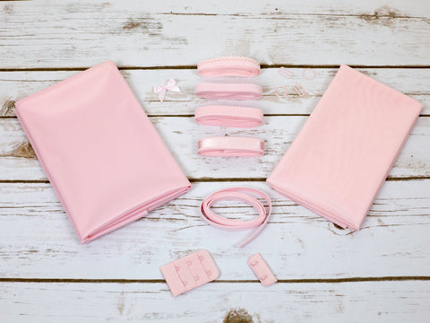 Light Pink Duoplex Bra Making Kit Medium Width Findings - Arte Crafts Bra Making Supplies