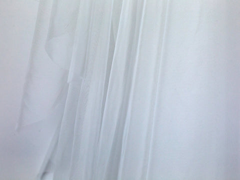 1/2 Yard Bra Tulle White Nylon Non Stretch Cup Lining - Arte Crafts Bra Making Supplies  - 1