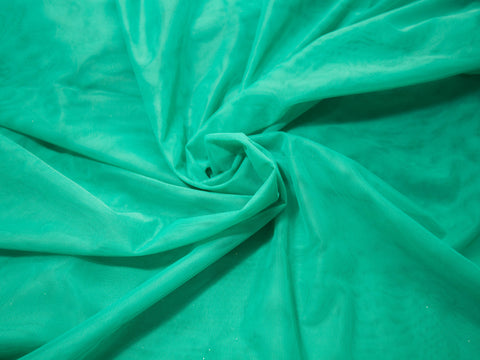 "18"" x 30"" Bra Tulle Jade Green Nylon Non Stretch Cup Lining - Arte Crafts Bra Making Supplies"