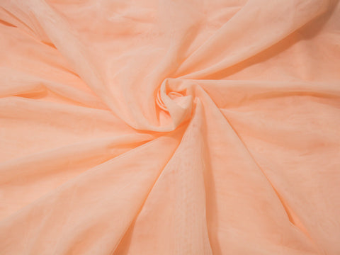 "18"" x 30"" Bra Tulle Peach Nylon Non Stretch Cup Lining - Arte Crafts Bra Making Supplies"