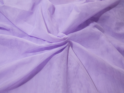 "18"" x 30"" Bra Tulle Light Purple Nylon Non Stretch Cup Lining - Arte Crafts Bra Making Supplies"