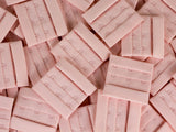 "Rose Quartz Pink 3 Hook and Eye Bra Closures 2.125"" x 2"" - Arte Crafts Bra Making Supplies  - 2"