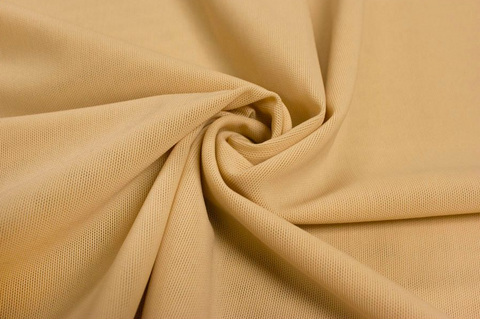 "1/2 Yard Nude Beige Medium Weight Powermesh 60"" wide"