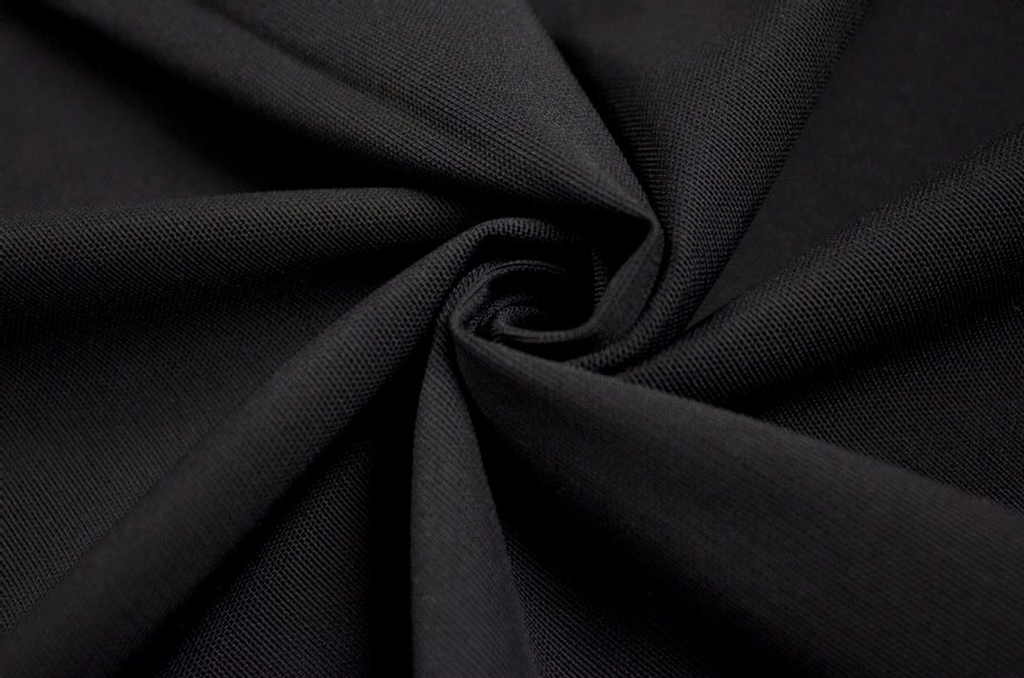 "1/2 Yard Black Medium Weight Powermesh 60"" wide"