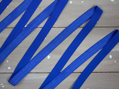 "5/8"" Royal Blue Foldover Elastic By the Yard"