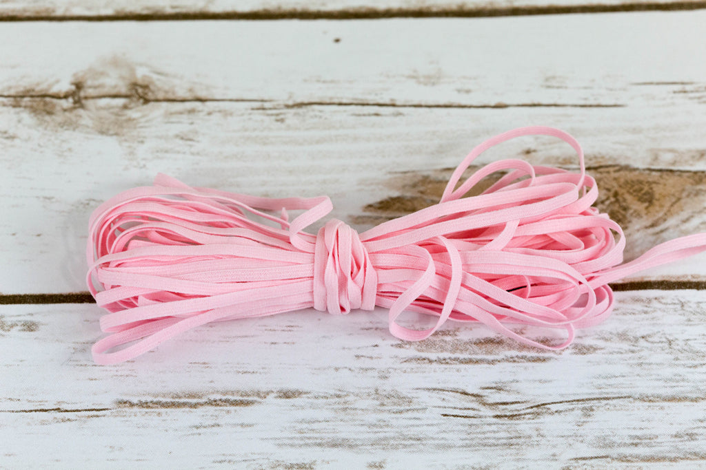 "1/8"" Pink Skinny Elastic for Bra Cups and Panties - Arte Crafts Bra Making Supplies"