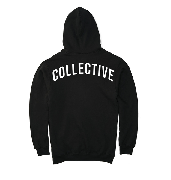Collective Pocket Script Black Hoodie Sweater