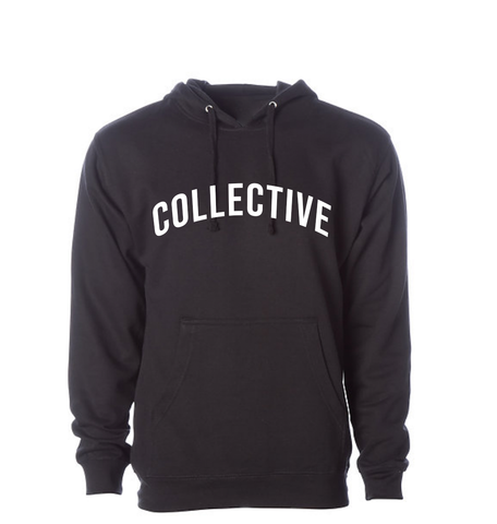 Collective Arch Script Black Hoodie Sweater