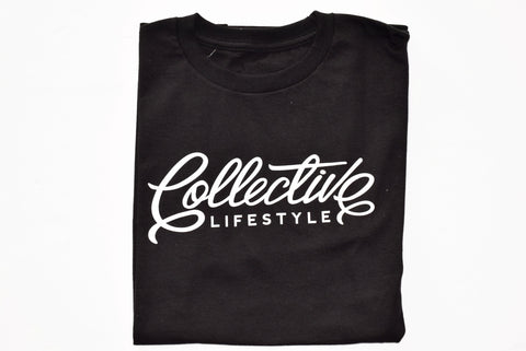 Collective Lifestyle Black Script Tee