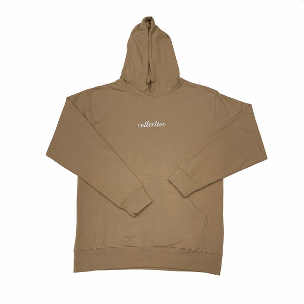 Collective Expectations Embroidered Sand Pullover Hoodie Sweater