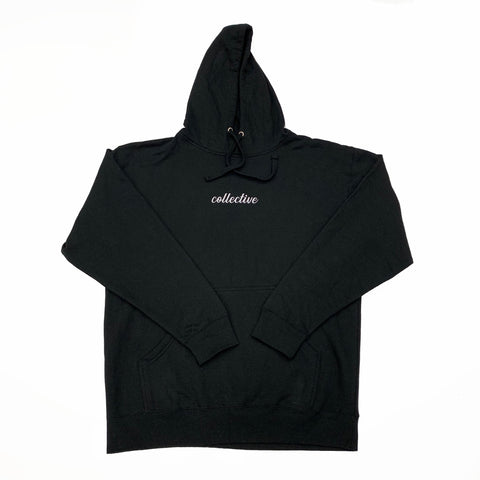 Collective Expectations Embroidered Black Pullover Hoodie Sweater