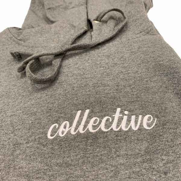 Collective Expectations Embroidered Heather Pullover Hoodie Sweater