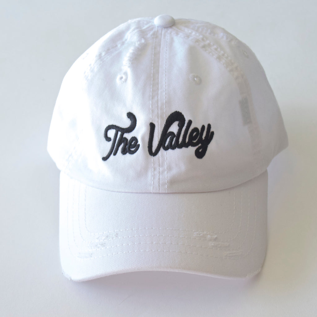 The Valley Dad Hat White