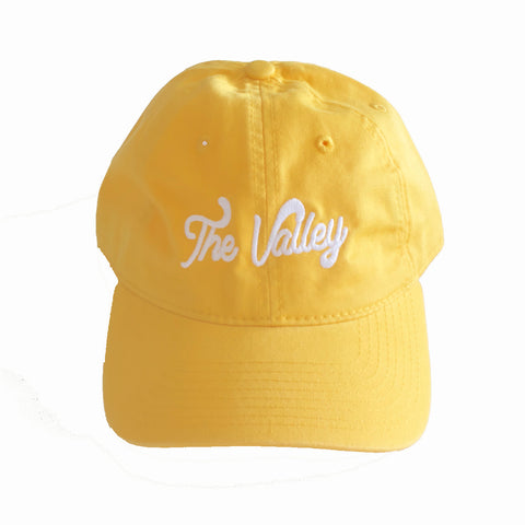 The Valley Dad Hat Pre-Order in Yellow/White
