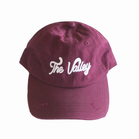 The Valley Dad Hat Burgundy