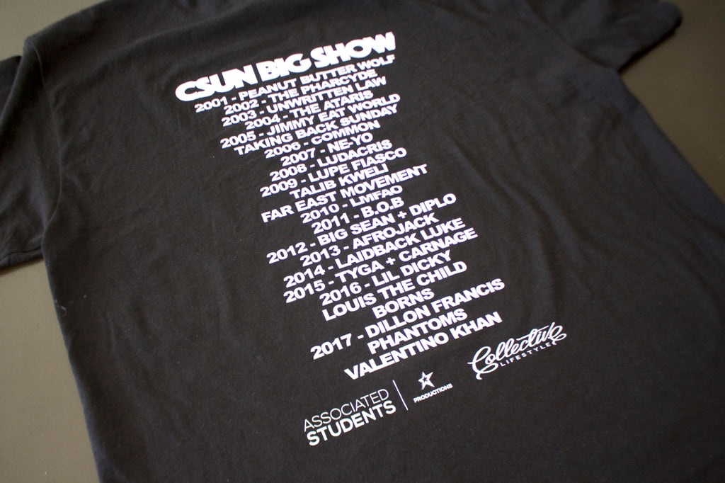 CSUN Big Show x Collective Lifestyle Collab Tee