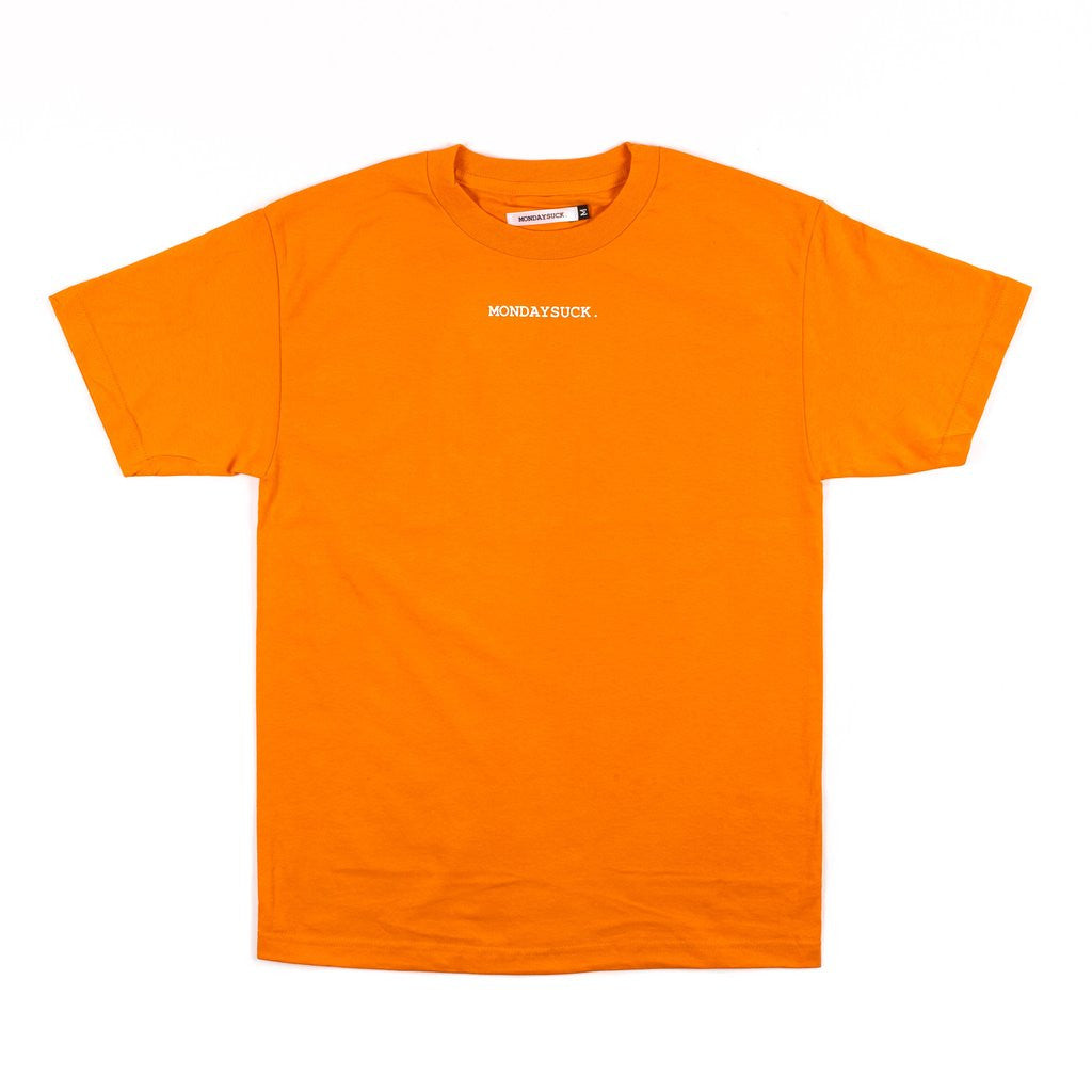 Mondays Suck Colorblock Logo Tee Orange