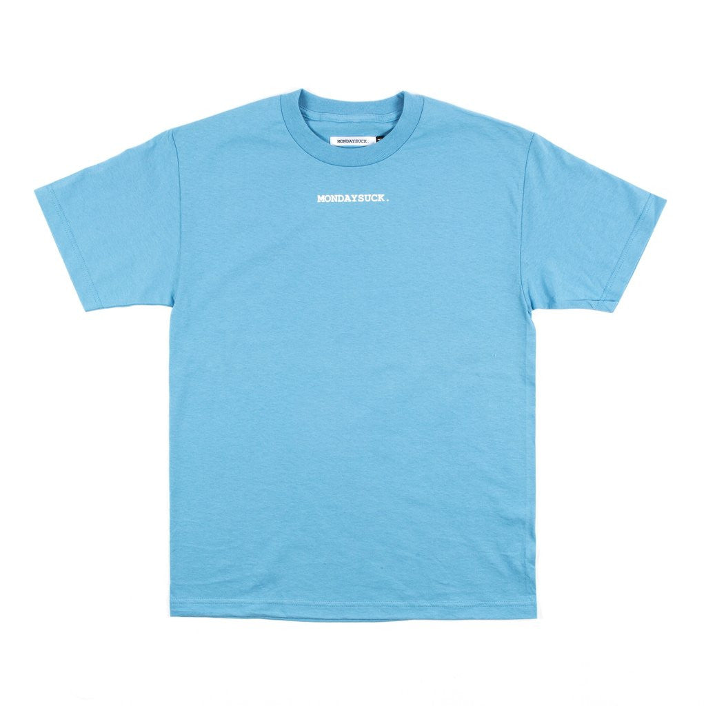 Mondays Suck Colorblock Logo Tee Blue