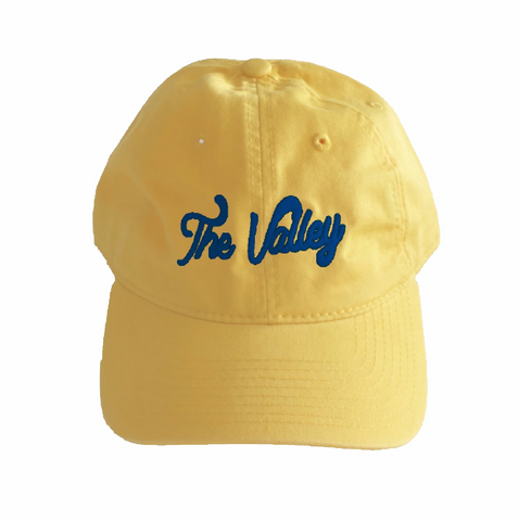 LA Rams Valley Hat Yellow Hat / Blue Thread Colorway Superbowl Edition