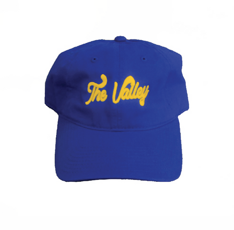 LA Rams Valley Blue Hat / Yellow Thread Colorway Superbowl Edition