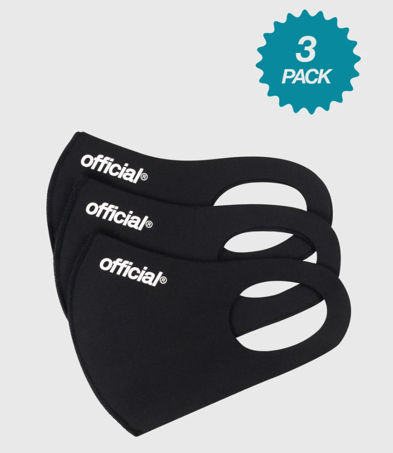 Official Face Mask (Black) 3-pack