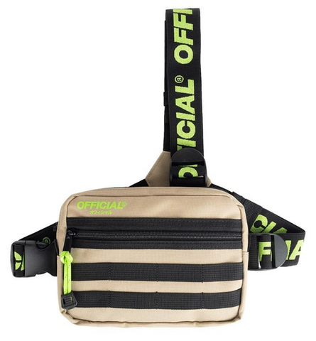 Official Tri-Strap Chest Utility Bag Desert Volt Green