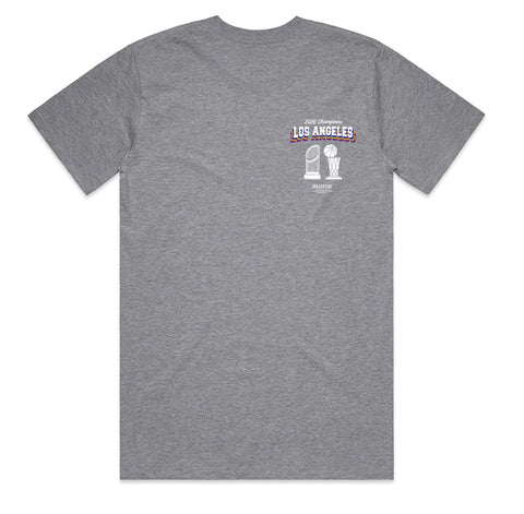 2 Titles Tee - Lakers x Dodgers 2020 Championship tee by Collective - Grey