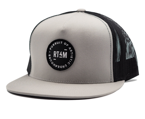 RT4M Grey and Black Endeavour Trucker Hat