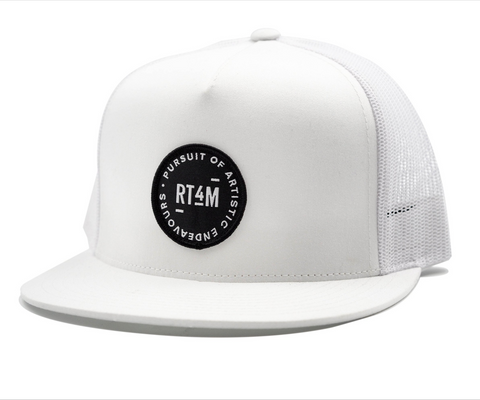 RT4M White Endeavour Trucker Hat