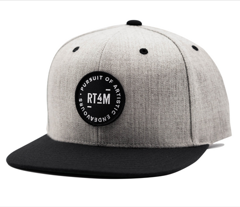 RT4M Heather and Black Endeavour Snapback Hat