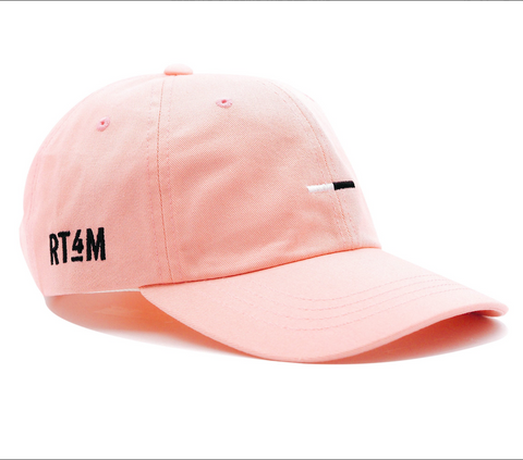 RT4M Pink Bar Logo Dad Hat